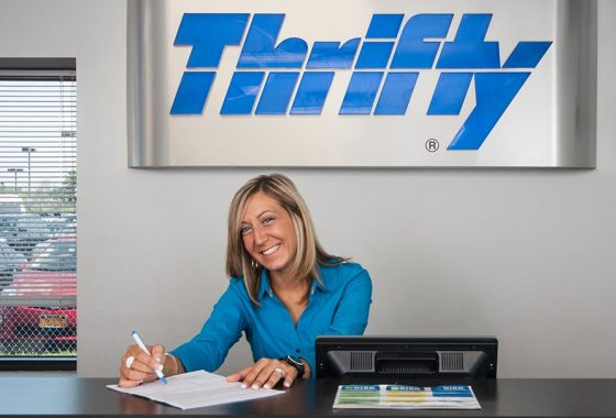 Thrifty Car rental at the buffalo airport
