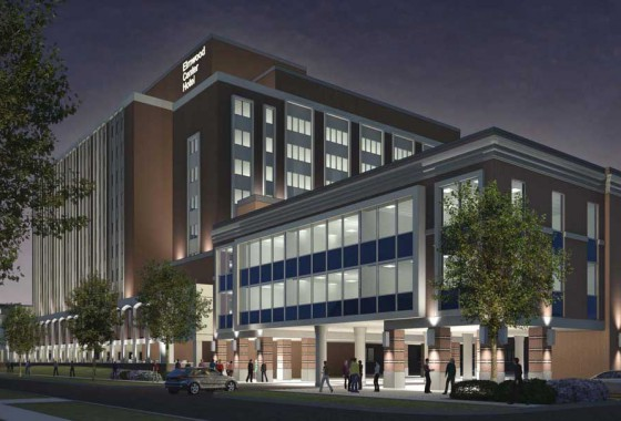 elmwood center rendering at night