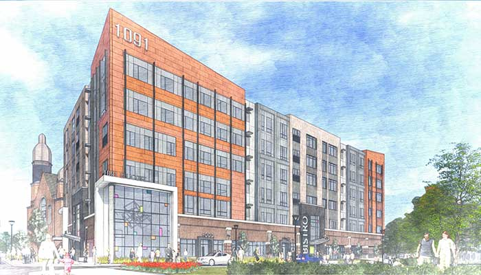 Rendering of 1091 Main Street