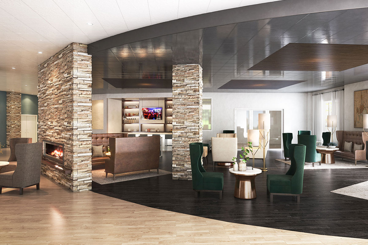 Mosey Hotel Lobby Rendering